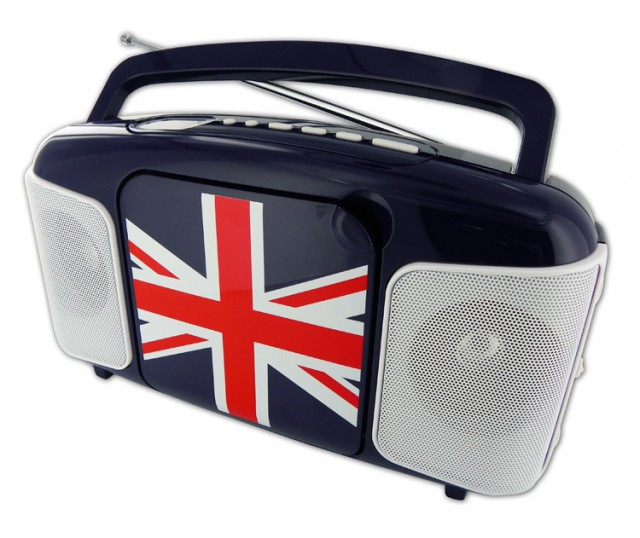 CD41 Radio CD and USB Player (Blue + Union Jack) - Packshot