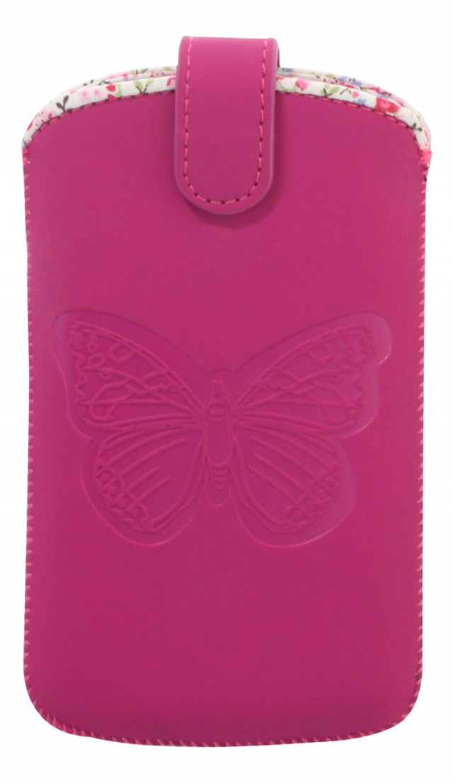 Universal pouch with embossed butterfly (Pink) - Packshot