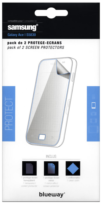 Set of two screen protector for Samsung® Galaxy Ace - Packshot