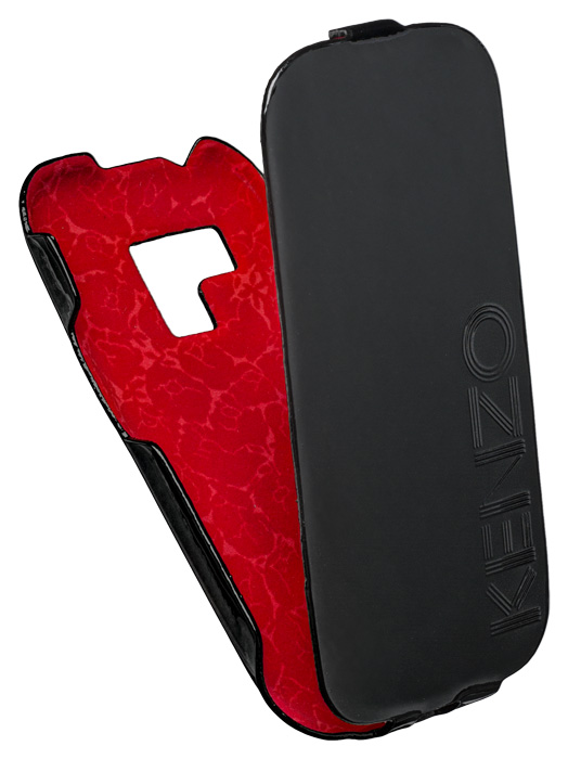 Leather flap case for Samsung® Galaxy S3 Mini (Black and red) - Packshot