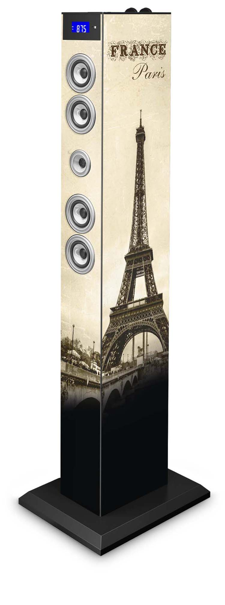 bluetooth multimedia tower paris bigben us bigben audio gaming smartphone tablet. Black Bedroom Furniture Sets. Home Design Ideas