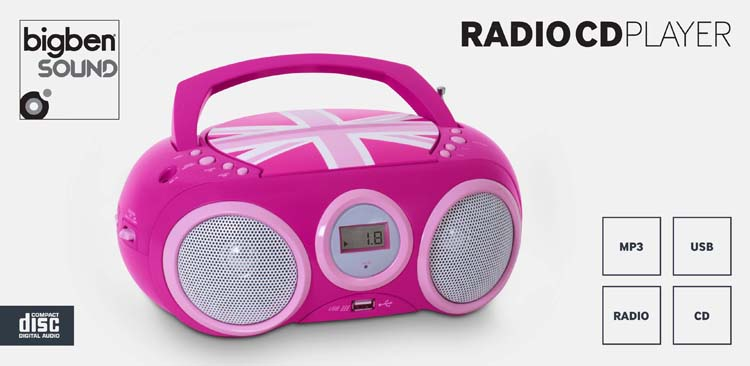 cd player with usb port cd32gbgirly bigben bigben us bigben audio gaming smartphone. Black Bedroom Furniture Sets. Home Design Ideas