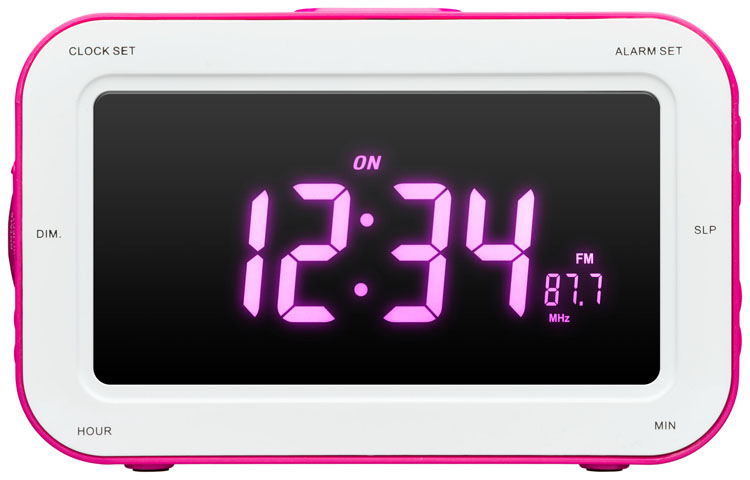 alarm clock projector fairy magenta bigben us bigben audio gaming smartphone tablet. Black Bedroom Furniture Sets. Home Design Ideas
