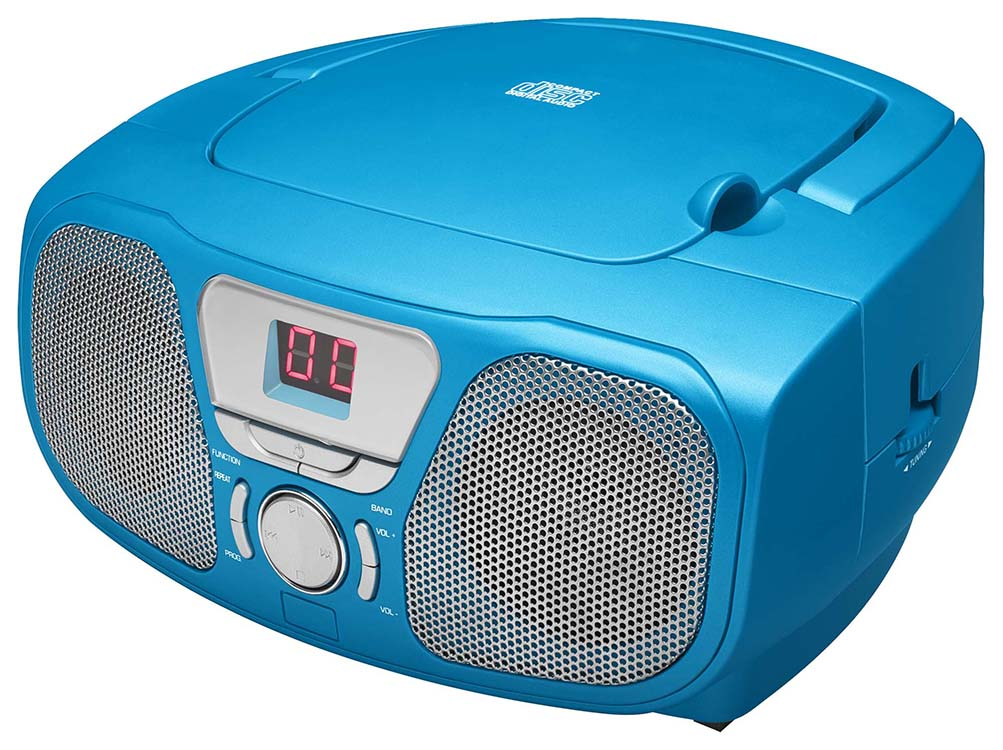 radio cd player stick blue bigben us bigben audio gaming smartphone tablet. Black Bedroom Furniture Sets. Home Design Ideas