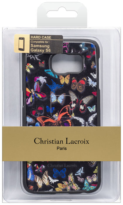 Christian lacroix hard case butterfly parade black bigben us bigben - Christian lacroix accessories ...