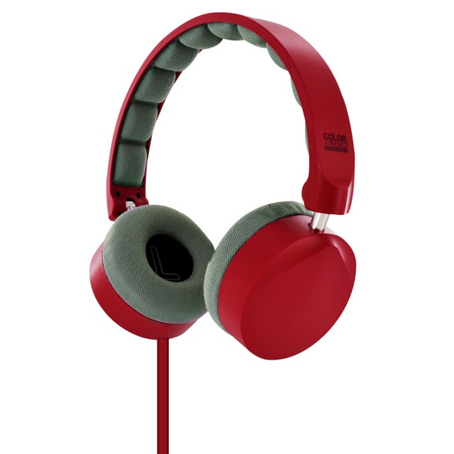 Colorblock On-Ear Stereo Headphone (Berry Red) - Packshot