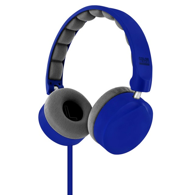Colorblock On-Ear Stereo Headphone (Royal Blue) - Packshot