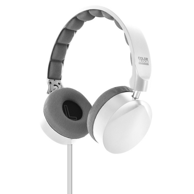 Colorblock On-Ear Stereo Headphone (Arctic White) - Packshot