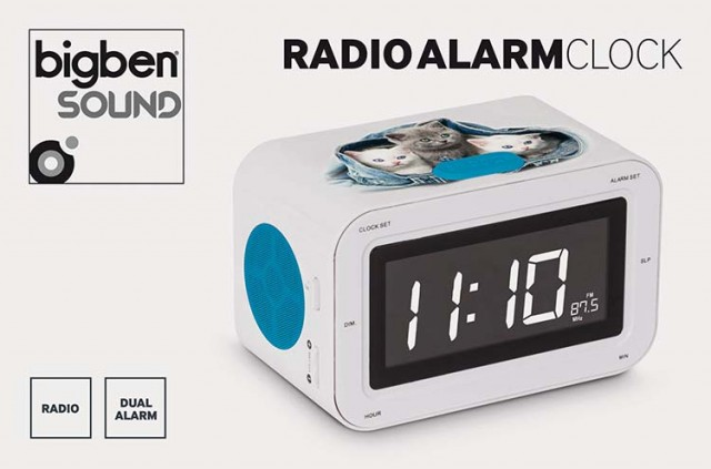 RR30 Clock Radio (Kitties) – Bundle