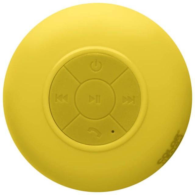 Colorblock splashproof Bluetooth® speaker (Solar Yellow) - Packshot