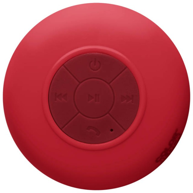 Colorblock splashproof Bluetooth® speaker (Berry Red) - Packshot