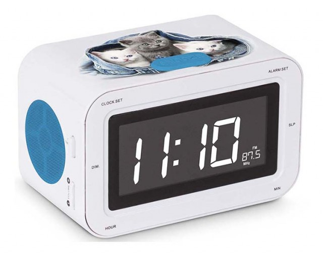 RR30 Clock Radio (Kitties) – Packshot