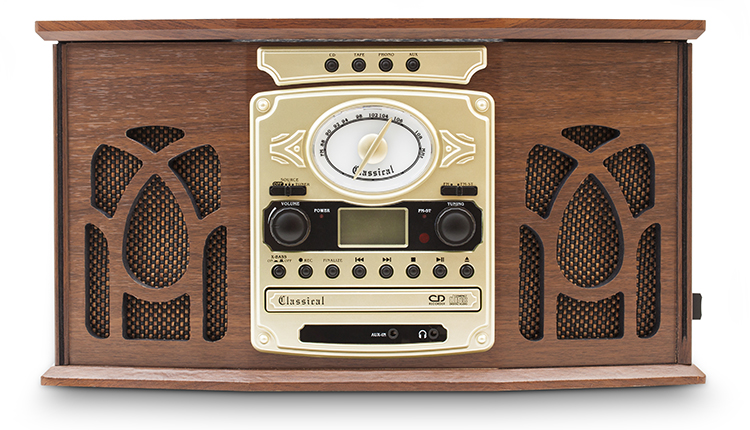 Reproductor de phono vintage de 45 rpm