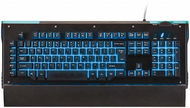 Professional gaming keyboard with semi-mechanical keys, macro recording and backlighting NACON - Packshot