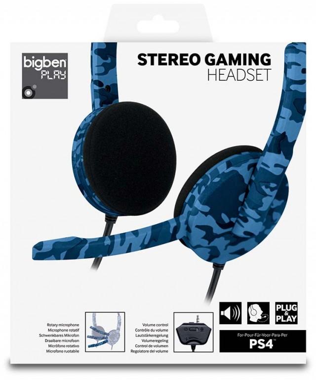 PS4 headset Camo (Blue) – Image   #1