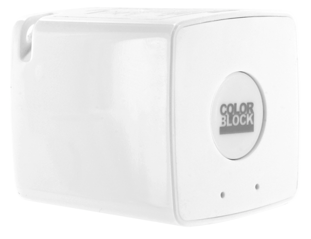 COLORBLOCK Mini Bluetooth® Speaker (White) – Packshot