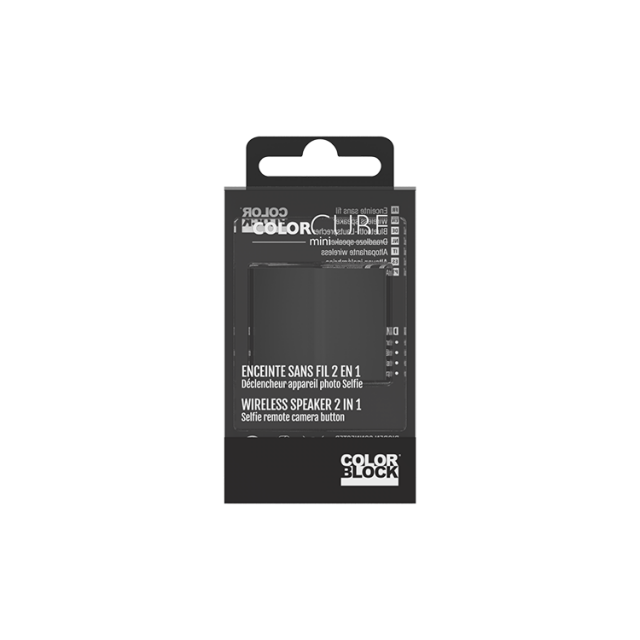 COLORBLOCK Mini Bluetooth® Speaker (Black) – Image   #1
