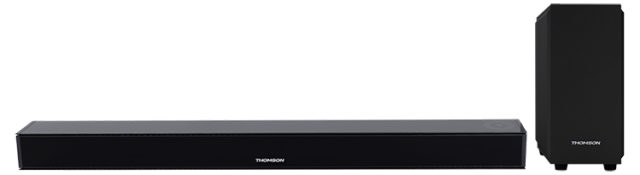 Soundbar with wireless induction* charging for mobiles and wired subwoofer SB260IBT THOMSON - Packshot