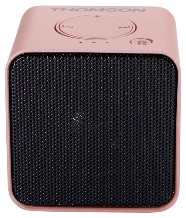 Wireless portable speaker (metallic pink) WS01GM THOMSON - Packshot