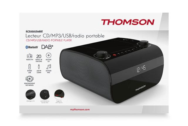 CD/MP3/USB/RADIO portable player RCD305UDABBT THOMSON – Image  #2tutu