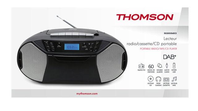 Portable radio tape/CD/DAB+ RK250UDABCD THOMSON – Image  #1