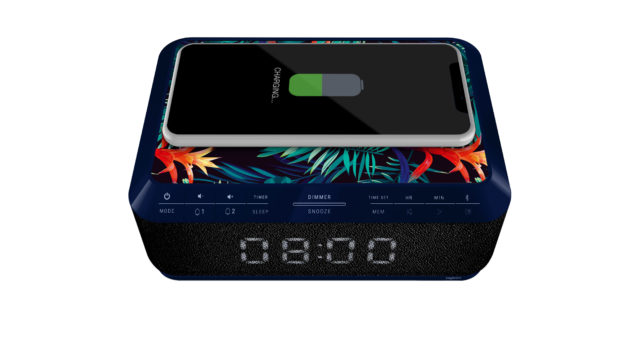 Clock radio with wireless charger RR140IJUNGLE BIGBEN – Image
