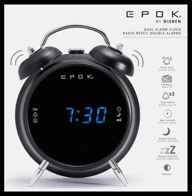 Dual alarm clock (black) RR90EPOKN EPOK® BIGBEN – Image  #2tutu