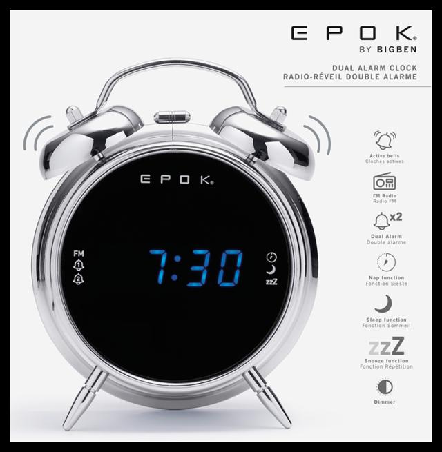 Dual alarm clock (silver) RR90EPOKN EPOK® BIGBEN – Image  #2tutu