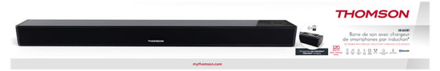Soundbar with wireless induction* charging for mobiles SB160IBT THOMSON – Image